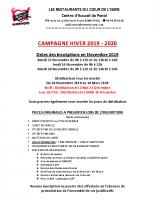 Les Restos du Coeur – Campagne hiver 2019.2020