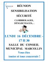 Affiche réunion Gendarmerie